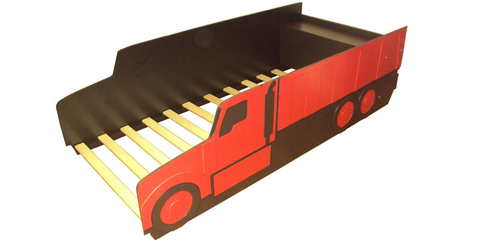 Dump truck bed in red