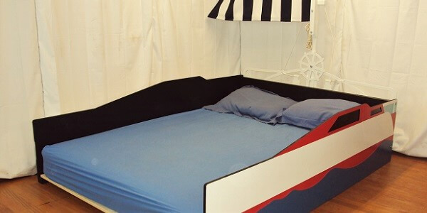 Full size sailboat bed with mattress