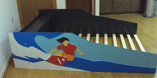 Full size surfer bed side view