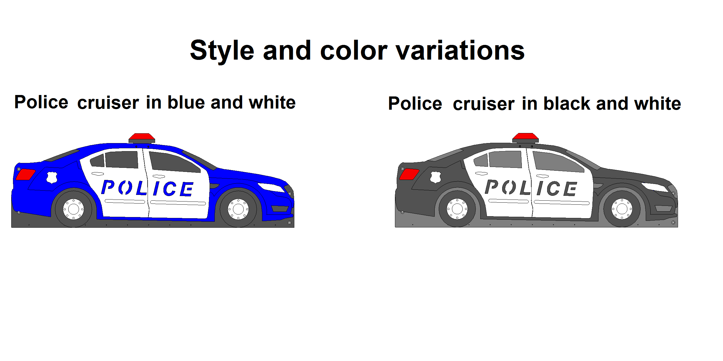 police cruiser bed options