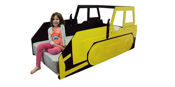 Twin bulldozer bed frame