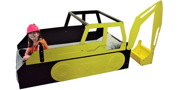 Twin excavator bed frame