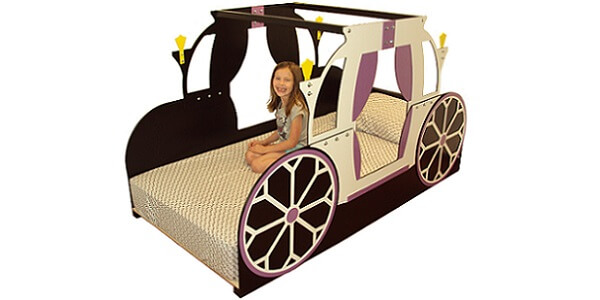 Twin size princess carriage bed frame