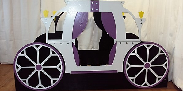 Princess bed frame side view