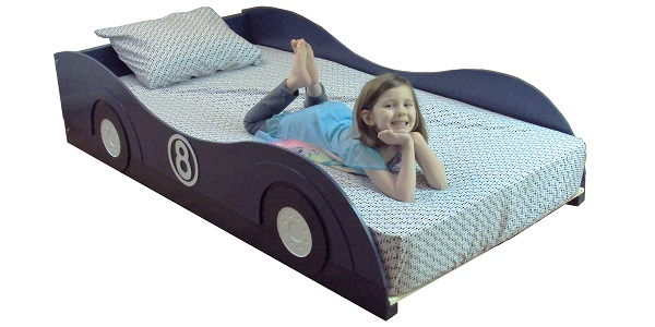 twin stylized car bed frame