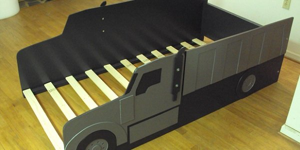 twin gray dump truck bed