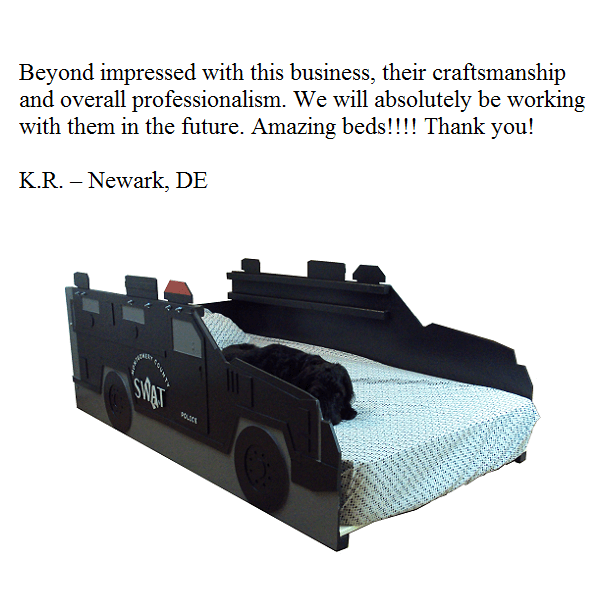 Beyond impressed with this business, their craftsmanship and overall professionalism. We will absolutely be working with them in the future. Amazing beds!!!! Thank you! -- K.R. -- Newark, DE